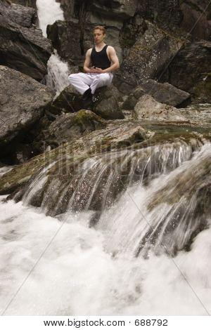 Meditation On A Stream - Short Exposure