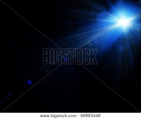 Illustration Of Spotlight With Glowing Snow