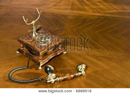 Pick Up The Phone. Old-fashioned Telephone