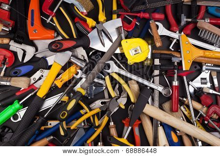 Miscellaneous work tools.