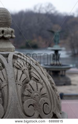 Central Park Detail - Bethesda Fountain