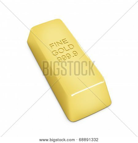 Golden Bar On White Background