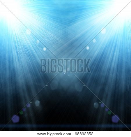 Illustration Of Two Spotlight With Glowing Snow
