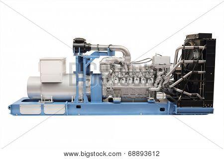 generator isolated under the white background