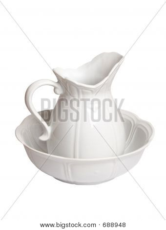 Bedside Water Pitcher And Bowl