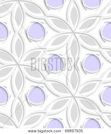 Floral With Purple Seamless