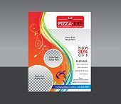 abstract detailed pizza store flyer vector illustration poster