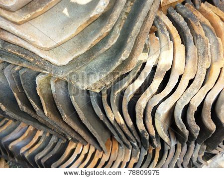 Pile of roofing tiles