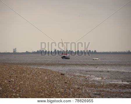 Mudflats at low tide, North Sea
