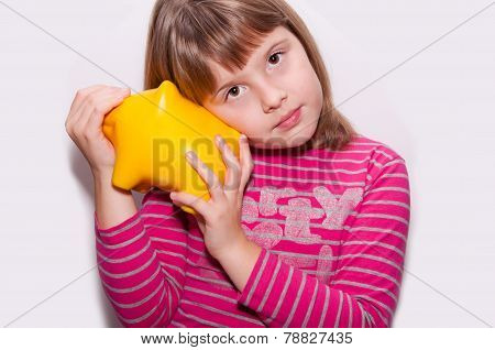 Teen Girl With Moneybox