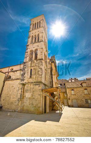 Town Of Hvar Church Tower