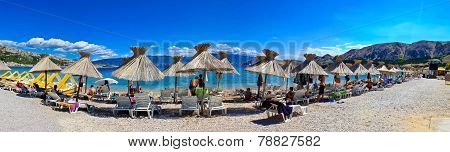 Idyllic Beach In Baska Panorama