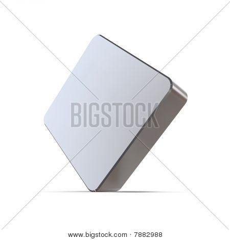 Metallic Club Card Sign - Diamonds
