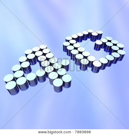 4G - Letters On Abstract Background