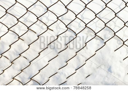 netting under the snow