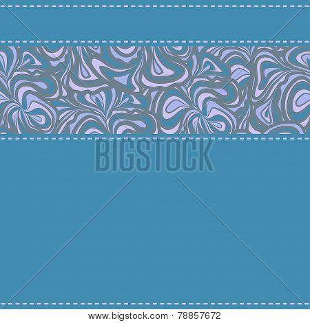 Blue textil with ornamental stripe