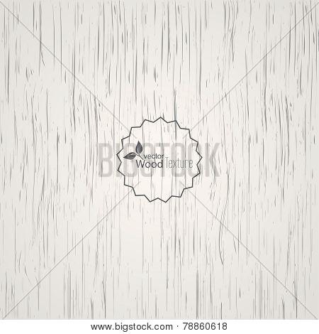 White wood background.