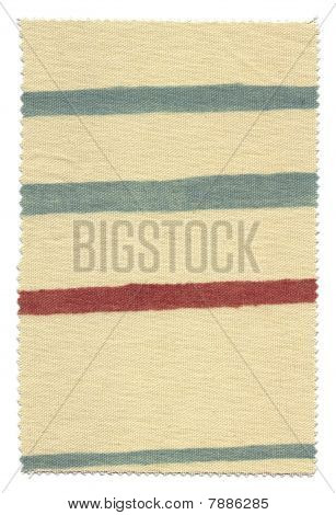 Blue and Brown Striped Fabric Swatch