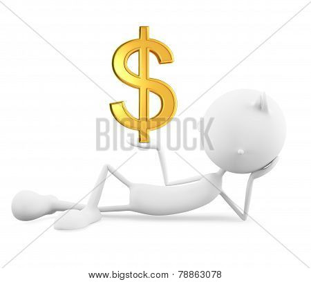 White Character With Doller Sign