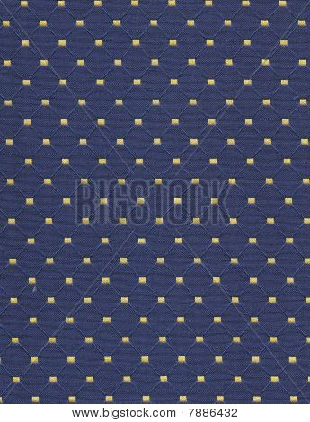 Blue and Beige Dotted Fabric Background
