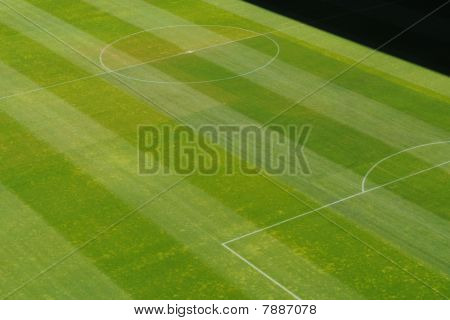 Center Of Soccer Football Grass Playing Field