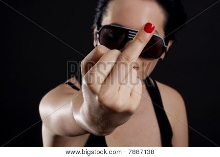 Flipping Off The Camera
