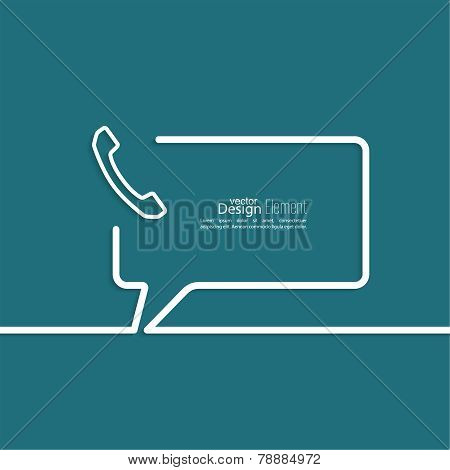 Speech Bubbles with handset
