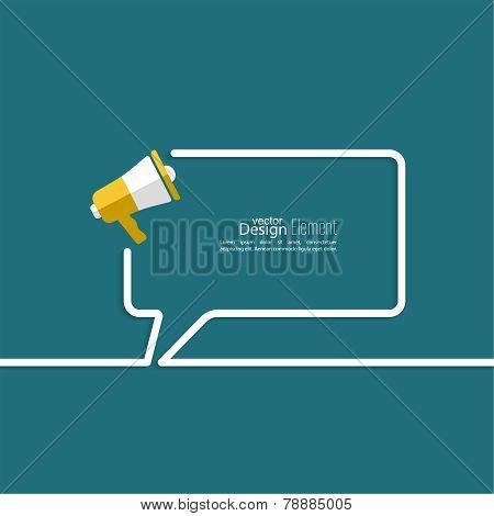 loudspeaker with bubbles speech