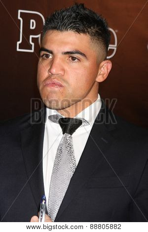 LOS ANGELES - April 21:  Victor Ortiz at the