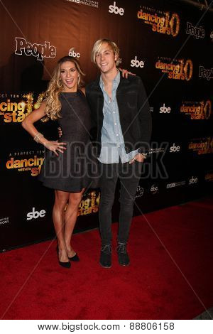LOS ANGELES - April 21:  Allison Holker, Riker Lynch at the