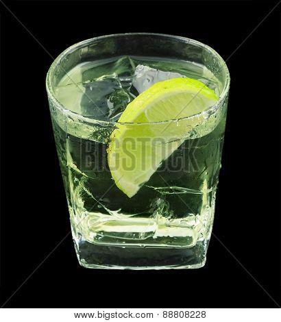 Vodka lime cocktail