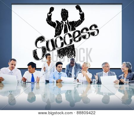Success Achievement Winning Gain Profit Concept poster