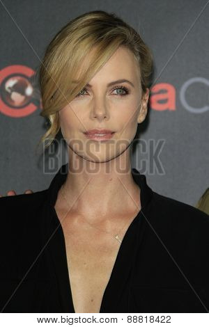 LAS VEGAS - APR 21: Charlize Theron at the Warner Bros. Pictures Exclusive Presentation Highlighting the Summer of 2015 and Beyond at Caesars Pallace on April 21, 2015 in Las Vegas, NV