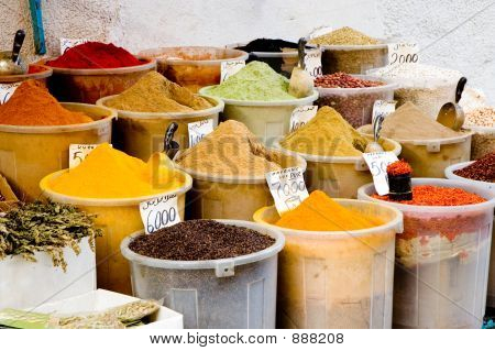 Containers Of Spices