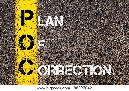 Business Acronym Poc As Plan Of Correction