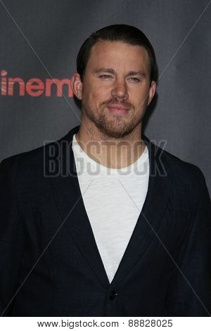 LAS VEGAS - APR 21: Channing Tatum at the Warner Bros. Pictures Exclusive Presentation Highlighting the Summer of 2015 and Beyond at Caesars Pallace on April 21, 2015 in Las Vegas, NV