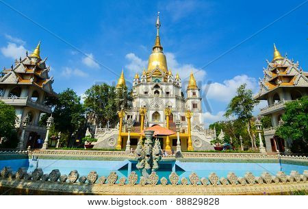 Thai-style Temple In Saigon, Vietnam