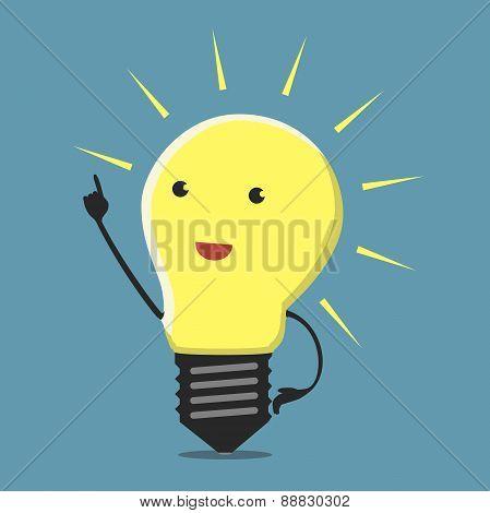 Inspired Lightbulb Character