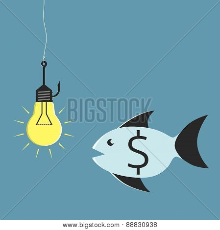 Lightbulb, Hook And Fish