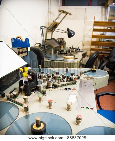 Movie Analog Editing Machine For 35 Mm Films Studio