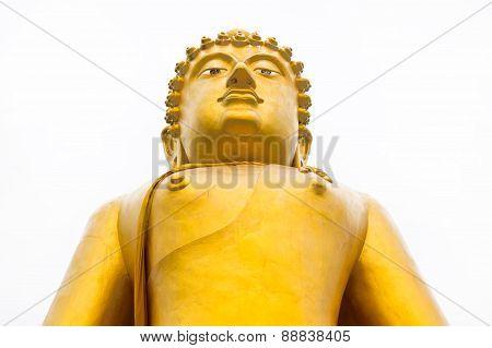 Golden Buddha Isolated On White
