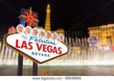 welcome to Las Vegas and Strip Background