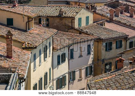 View of a village in Tuscany, Italy