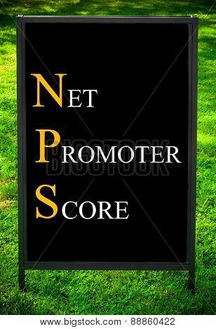 Business Acronym Nps As Net Promoter Score