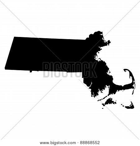 Map Of The U.s. State Of Massachusetts