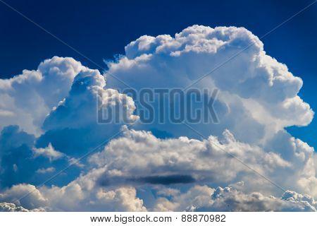 Large Puffy Cumulonimbus Storm Cloud
