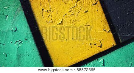 Graffiti Closeup - Retro Photo. Color Wall Macro Background  - Vintage Effect.