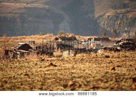 Wooden Houses in Rural Africa