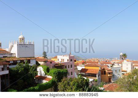 cityscape of Orotava, Tenerife, Spain