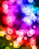 abstract background with bokeh effect with overlapping dots poster